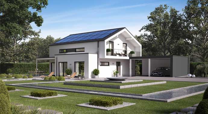 Schwabenhaus Solitaire-E-165 Entwurf 5 Außenansicht