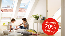 Mindestens 20 Prozent Förderung für den Dachfenstertausch