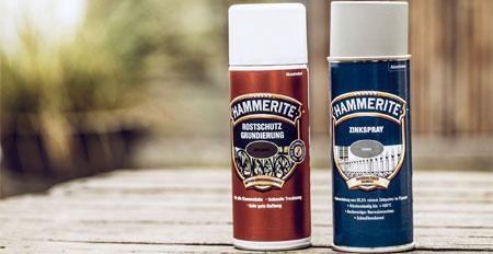 Rostschutzgrundierung und Zinkspray von Hammerite
