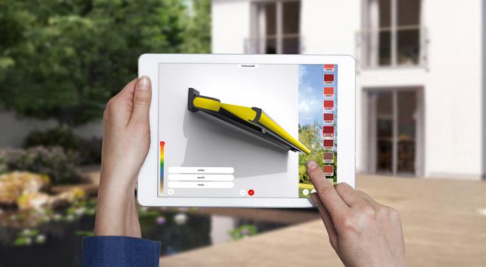 Markisenkonfiguration mit der 3D App von markilux