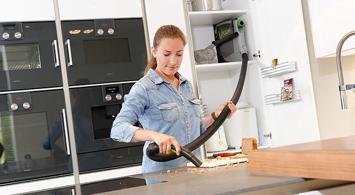 Vacustar Zentralstaubsauger in der Küche