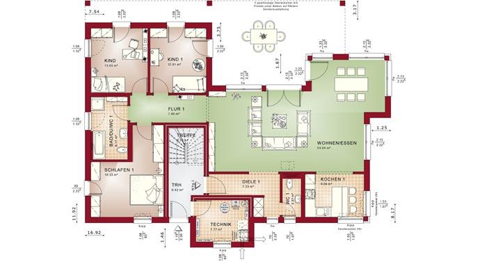 bien zenker zweifamilienhaus celebration 282 v7. Black Bedroom Furniture Sets. Home Design Ideas