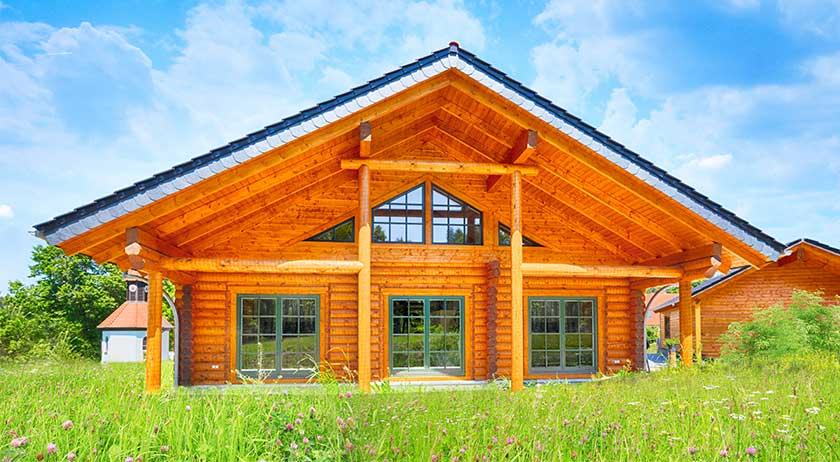LéonWood Blockhaus Espoo deluxe Außenansicht
